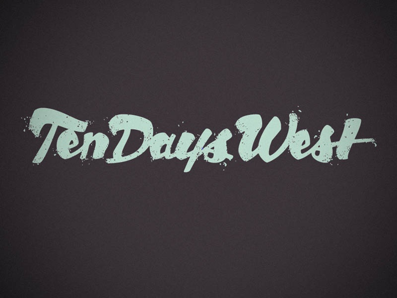 Ten Days West wordmark logo microsite script lettering grunge
