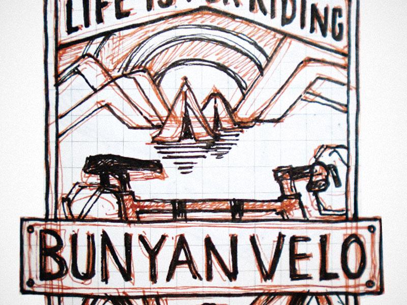 Bunyan Velo Patch Sketch patch sketch velo bike bunyanvelo concept pen