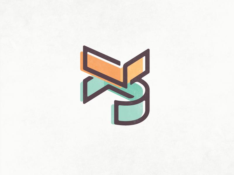 Personal Branding WIP branding monogram structure layers overprint perspective
