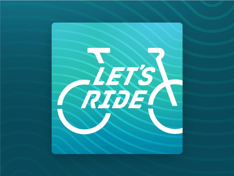 Let's Ride Podcast Branding lets ride minnesota made bike talk 30 days of biking advocacy cycling biking bicycle logo podcast