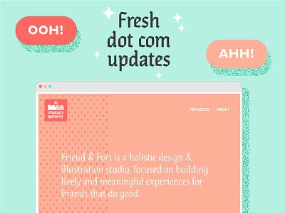 Fresh 'n' Friendly dot com new work branding update freshness pink portfolio website