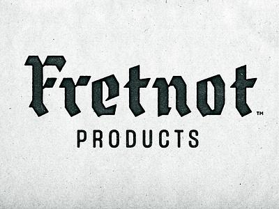 Fretnot Logotype WIP branding grungy calligraphy identity logo gritty custom type music gothic blackletter logotype