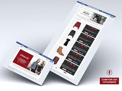 Comptoir des Cotonniers facebook widget fashion sales