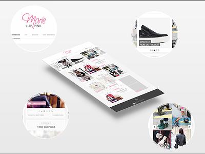 MARIE LUV PINK fashion blog pink webdesign