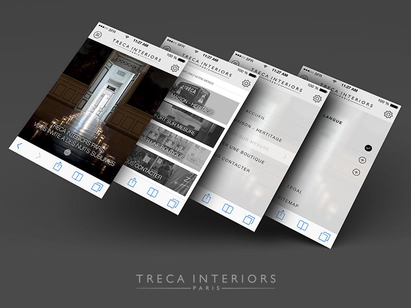 Treca Interiors responsive webdesign mobile