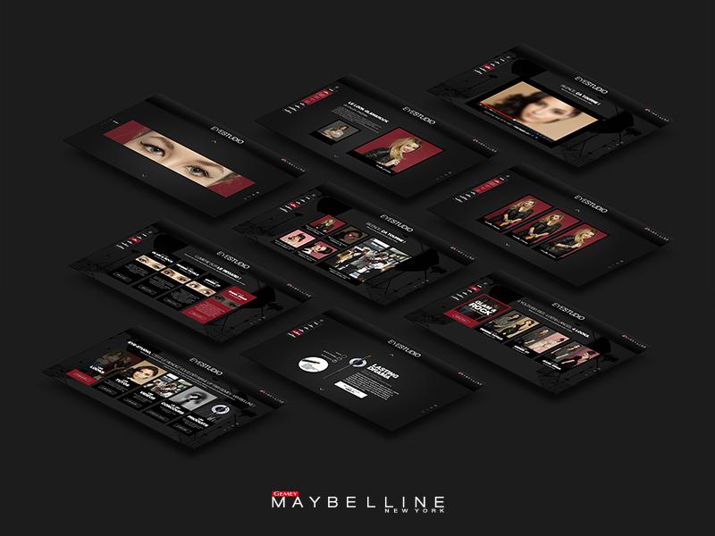 GEMEY MAYBELLINE – EYE STUDIO makeup webdesign tuto
