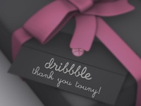 Thank you for the dribbble invite!