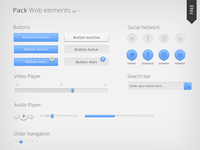 Freebie Pack Web elements