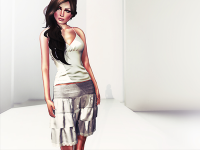 3D Skirt & Top 3d skinning game design 3ds max