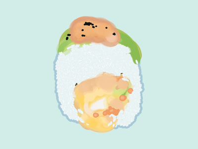 Baby Dragon shrimp roll pastel avocado dragon roll soft tempura sushi