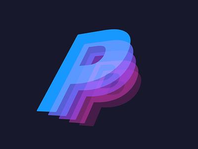 "Its a ""P"" xd 3d illustration simple concept minimal"