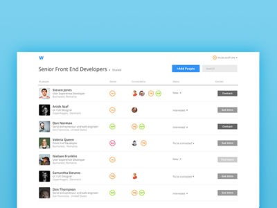 Recruiting tool exploration flat simple tool people recruiting ui ux
