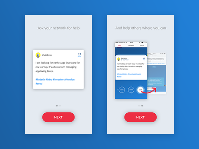 Some screens for on-boarding in an app flow screens mobile on-boarding ui ux