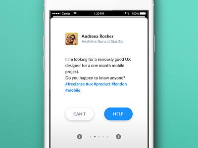 A little mobile app exploration ios minimal simple exploration ui mobile