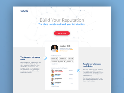 Landing Page for Connectors WIP white minimal reputation connector landing page ui