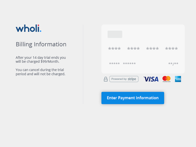 Payment Information flow simple ux payment