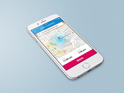 Offer WIFI hotspot, mobile app map simple ux phone ui