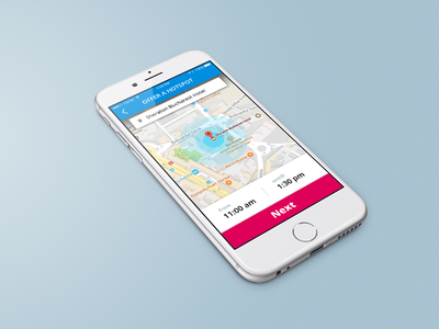 Offer WIFI hotspot, mobile app map simple ux phone ui
