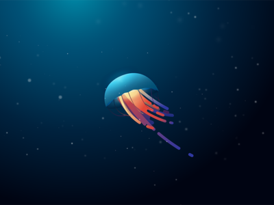 Random Jelly Fish jellyfish minimal underwater illustration