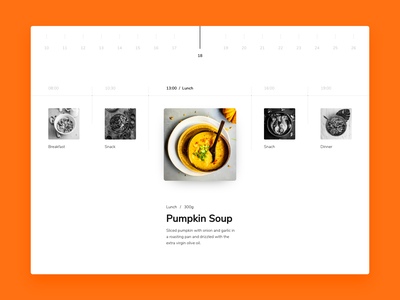 Daily Meal Plan design flat simple minimal concept ui ux