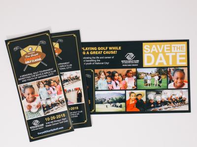 Don Coryell Golf Classic marketing vector fundraiser golf marketing collateral nonprofit clean design branding