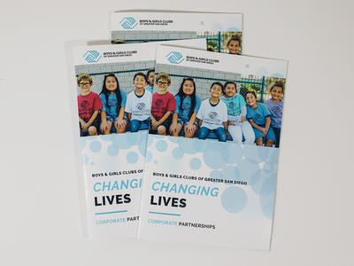 Corporate Brochure brochure layout illustration nonprofit fundraiser marketing collateral branding clean design