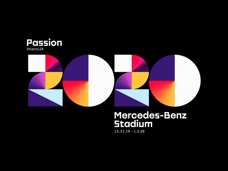 Passion 2020 color benz georgia atlanta numbers geometric 2020 passion gradient design