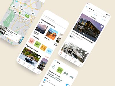 Booking app mobile app ux design ui design rent a car travel booking app