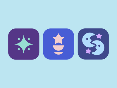 Logo Concepts For an Astrology Relationship App