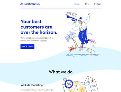 Lonely Captain Website Design