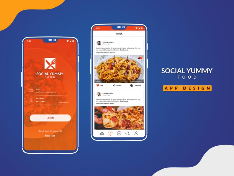Social Yummy -  App Design mac app android app ux design ui design ui  ux ui application app