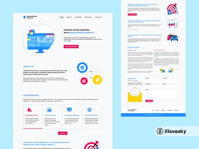 B2B Business Surveys Homepage design design photoshop ui design uidesign uiux ui ui  ux landingpage webdesign