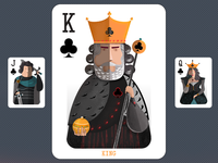 Playing cards - king