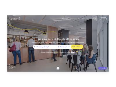 Workthere - Homepage UI
