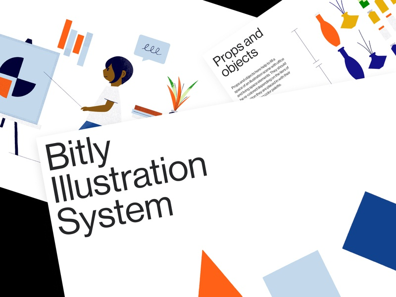 Bitly Illustration System illustrations brand guidelines guidelines technology colors characters texture illustration