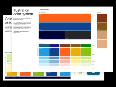 Bitly Illustration System - Colors branding design color palette illustration system illustration guide brand guide color