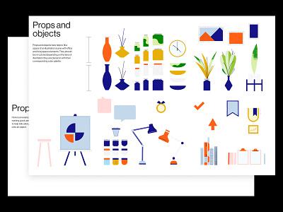 Bitly Illustration System - Props layout brand guidelines guidelines system illustration