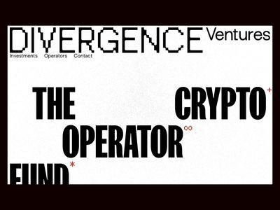 Divergence Ventures noise interaction animation website venture