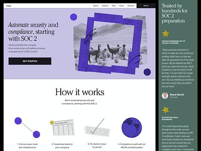 Vanta Redesign - Homepage typography collage texture visual design web design branding