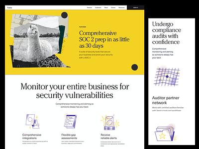 Vanta — Features art direction branding web design layout design