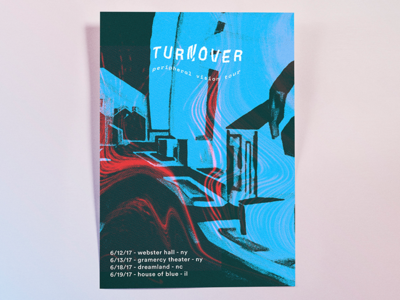 Turnover - Peripheral Vision Tour Poster tones wavy textures poster turnover