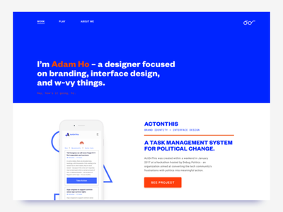 weekends are for redesigning portfolios founders typography landing page portfolio