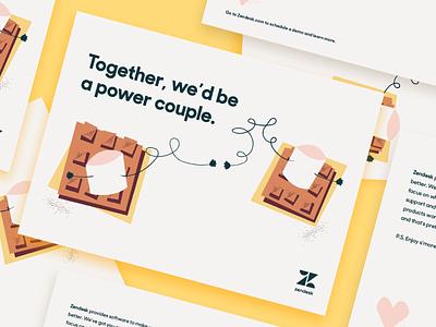 Valentines Day Mailer smores texture illustration print mailer zendesk