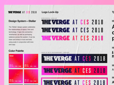 The Verge—Conference Visual Identity System visual system the verge design system