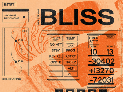 Bliss 🌟🌟 collage typography sketch texture