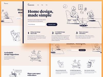 Homestory Design Explorations brand identity web design layout design website