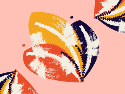 Floral illustrations abstract texture branding illustration
