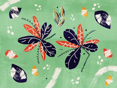 Plume texture feathers illustration