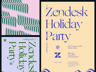 Color combo explorations pt. 2 ogg typography invite event poster