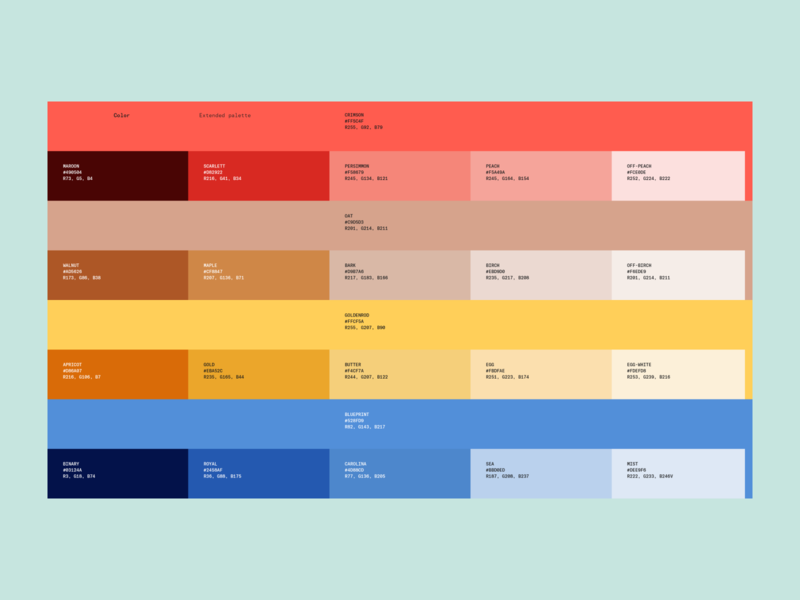 Abstract — Color story (Extended palette) branding design system brand identity brand guide color palette